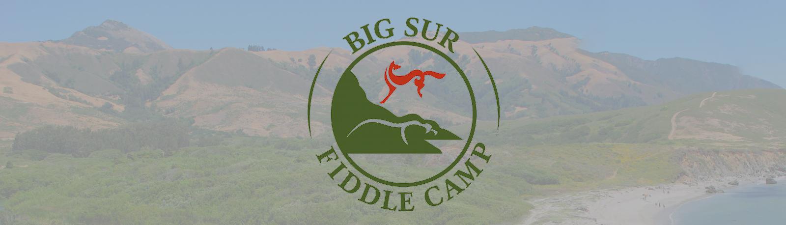 Big Sur Fiddle Camp Logo on header background